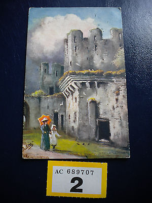 Vintage Postcard Conwy Castle Wales posted to Clouchford Lancs 1906