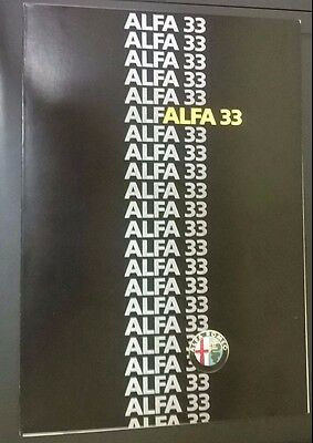 Brochure Alfa Romeo 33 in italiano