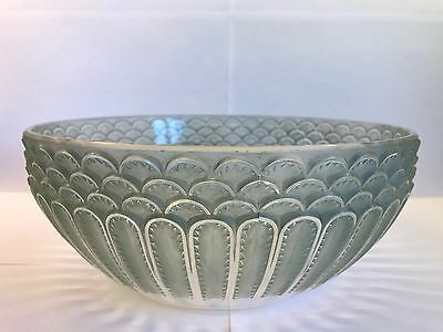 "Rene Lalique Green Stained Bowl 24cm ""JAFFA"" C1931"