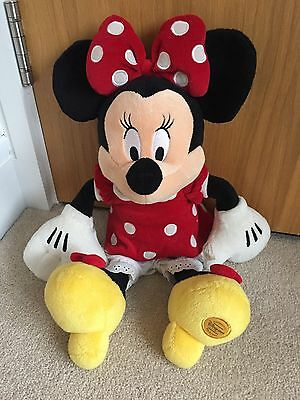 Minnie Mouse Soft Cuddly Toy Disney Store BNWOT