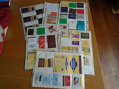 A Collection Of Match Book And Box Covers