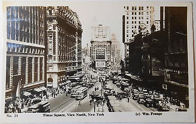 Vintage c1936 RP Postcard Times Square View North New York