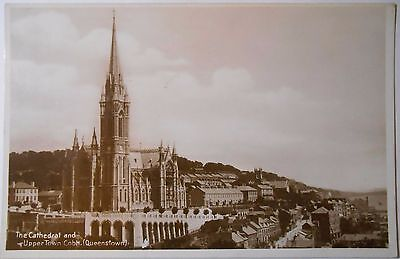 Vintage RP Postcard St Colmans Cathedral Upper Town Cobh Queenstown Cork Ireland