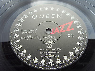QUEEN JAZZ 1st A1 Press UK LP TIME CAPSULE COPY STUNNING VINYL POSTER 1st SLEEVE