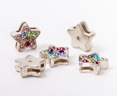 Sparkling star crystal beads charms jewelry making bracelet charms