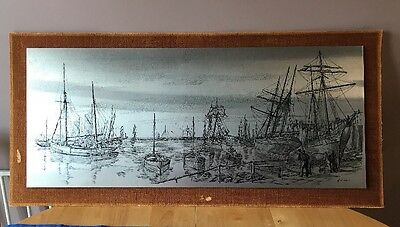 PICTURE METAL - HARBOUR SCENE by WENDRON FORGE ,HELSTON ,CORNWALL BY G W Hubbard