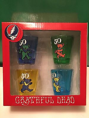 Grateful Dead Shooter Cup Set Of 4 New In Box