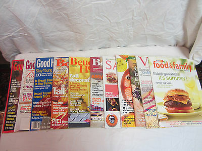 Mixed Lot Of 11 Good Housekeeping  Better Homes Sunset Ect. Magazines Lot #50