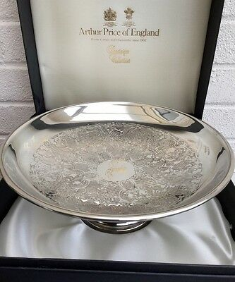 Arthur Price Silver Plated Footed Serving Dish Boxed Large 27cm ~ Tazza Compote
