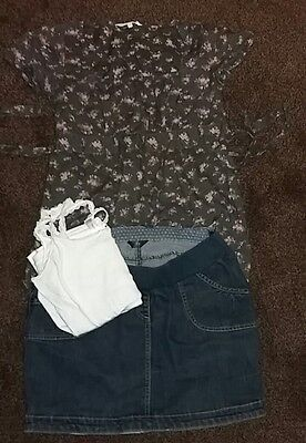 Maternity Bundle of denim skirt and top sizes 8-12
