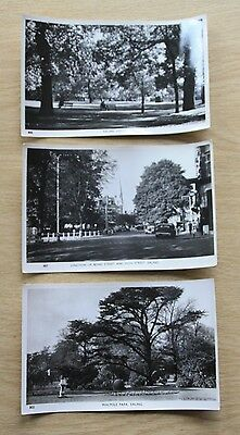 Set of 3 postcards of Ealing, London from the early 1950s - Vintage