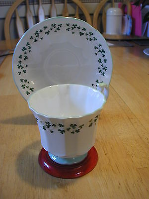 Royal Crest Shamrock Bone China Cup and Saucer
