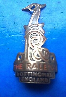 VINTAGE 1970s METAL RALEIGH HERON HEADBADGE,FOR RIVETTING ONTO FRAME,CHOPPER ?