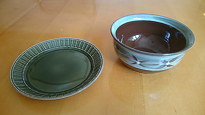 Pottery Bowl and Plate