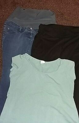 Maternity bundle of casual clothes; Jeans, Jogging bottoms & T'Shirt, size 14-16
