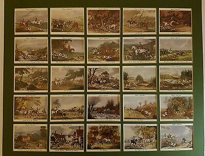"""Player's cigarette cards. 1997 Reproduction set of """"Old Hunting Prints"""". Mounted"""