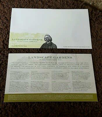 Royal Mail First Day Cover Envelope and Filler Card Landscape Gardens
