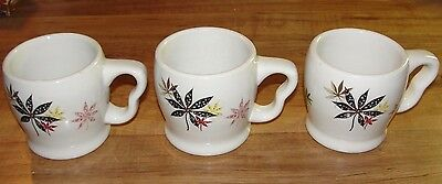3 Shenango - Peter Terris Calico Mid-Century Coffee Mugs Real China For Everyday