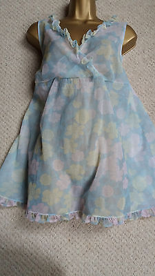 VIntage Marks and Spencer Frilly Double Layer Nylon Baby Doll
