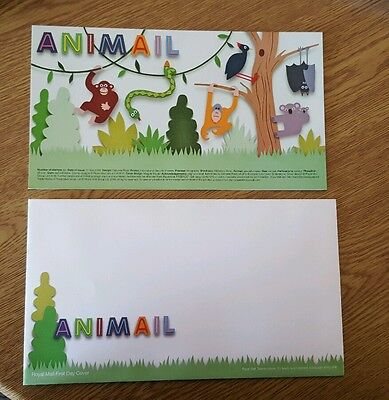 Animail First Day Envelope and Filler Card Royal Mail