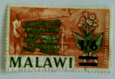 Malawi Postage Stamp Turkish Tobacco Industry 1'3 Overprinted 1'6 Used