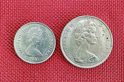 Turks & Caicos Islands 1969 1981 Crown and Half Crown Coin Set