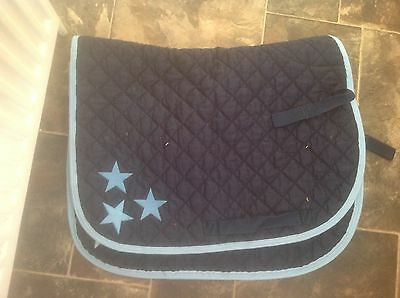 Nytack Navy Saddlecloth with Sky blue detail
