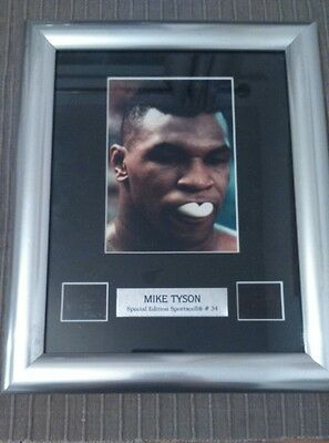 Mike Tyson framed boxing photo and film cell of fights. Special Edition #34