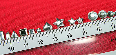 30 Strass thermocollant ETOILE 8 mm (hotfix) cristal A+ qualité Bling