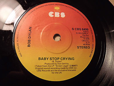 Bob Dylan......Baby Stop Crying.......45rpm