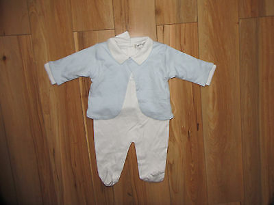 Kissy Kissy, blue sleepwear romper and cardigan 2 pieces set newborn.