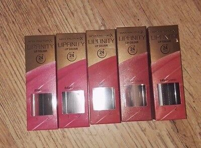 Max Factor Lipfinity - Various Shades Available - Free P&p