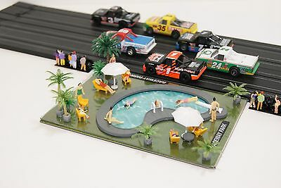 Ho Scale Slot Car Scenery / RACEWAY PARK POOL SET  for AFX,HOT WHEELS DIORAMAS