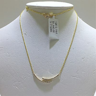 14k Solid Yellow Gold Necklace With Genuine Diamond Pendant. Retail $1440
