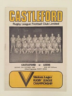 Castleford v Leeds ~ 1983 ~ *FREE UK POST*