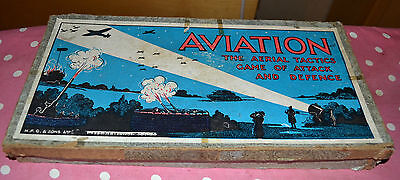 Vintage Aviation military board game by Gibson 1930s COMPLETE