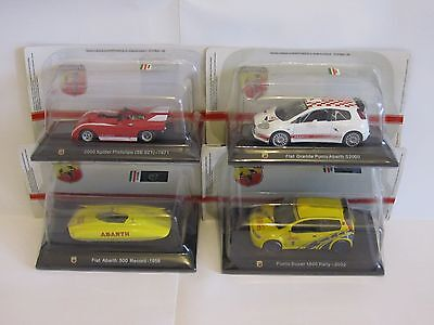 LOT OF 4 MODELS 1/43 Abarth collection (Hachette) - Fiat
