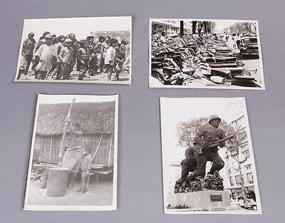 4 photographs taken by a 4th Infantry Division combat photographer in Vietnam