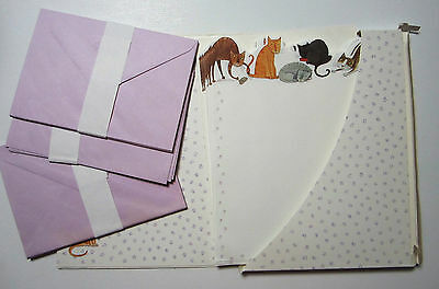Vintage Stationary Set Hallmark Cats and Kittens