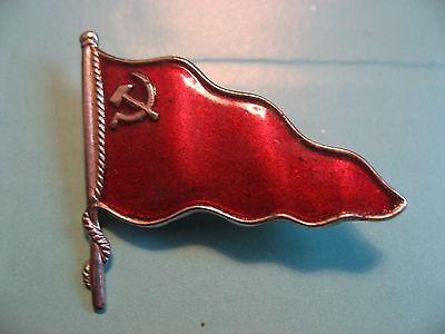 Antique Russian Flag Pin Badge