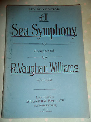 Vintage Vocal Score Sheet Music Book A SEA SYMPHONY by R Vaughan Williams