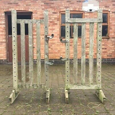 PAIR WOODEN HORSE JUMP WINGS WHP Working Hunter Pony Showjumping RUSTIC FENCE