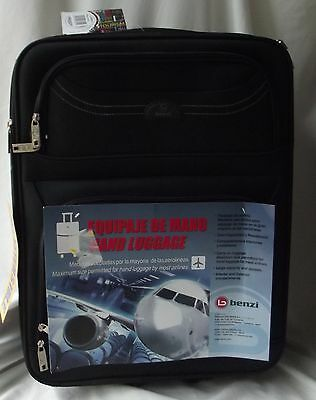 Benzi Expandable Cabin Flexible Carry on Hand Luggage Suitcase Black 55cm
