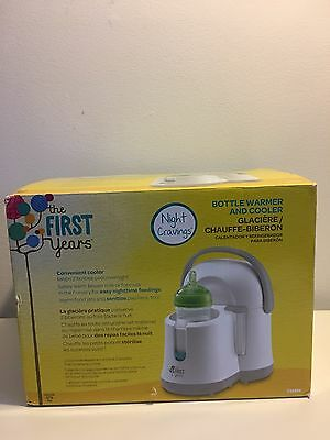 The First Years Night Cravings Bottle Warmer & Cooler Blue/White New