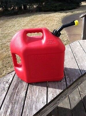 5 Gallon Blitz Gas Can with Ventless Spout and Yellow Cap