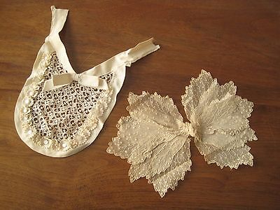 1930's Lace Bow and Bib-like Inset for Dress