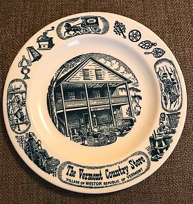 """The Vermont Country Store 10"""" Plate Kettlesprings Kilns Vintage Collector"""