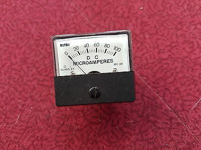 Moving Coil panel meter DC Microamps 0 to 100