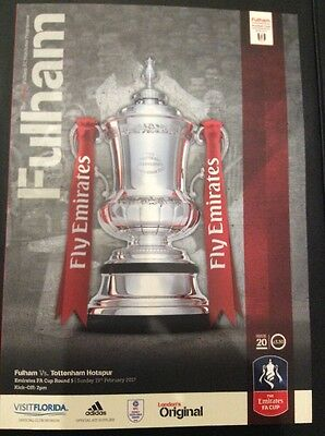 ● SIGNED Fulham V Tottenham Spurs Official FA Cup PROGRAMME ● 19 February 2017 ●