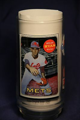 Nolan Ryan 1993 McDonalds/Coke MLB All Time Greatest Team 12oz glass 1957 Topps